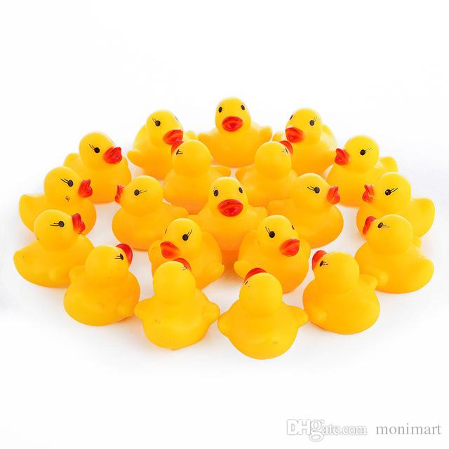 Rubber Toy Duck with Bibi Sound Mini Bath Swimming Toys for Kids Yellow Duck Gift for Children