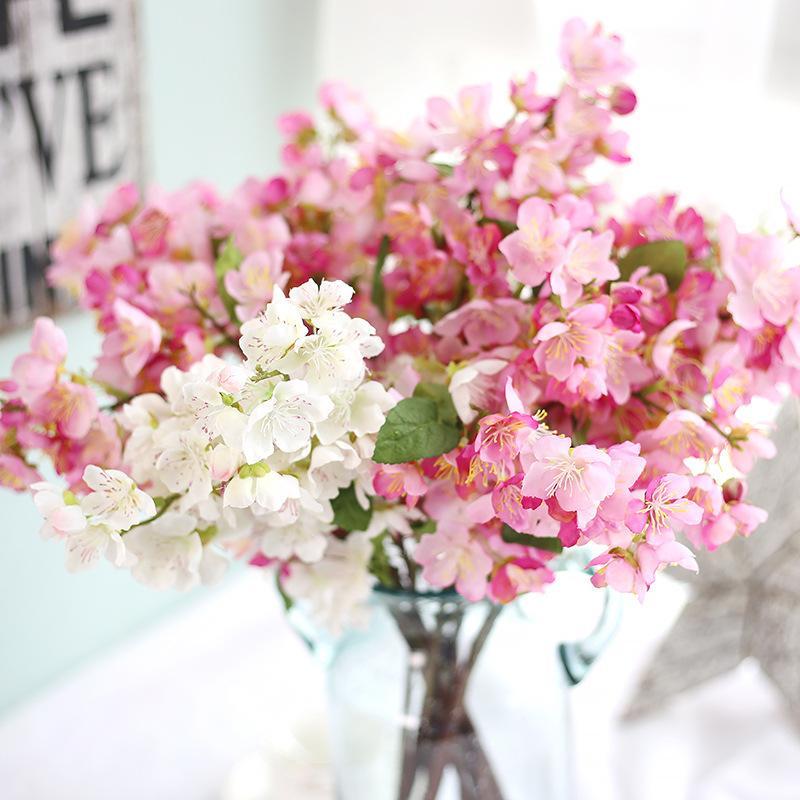 مصنعين اليابانية زهر الكرز نبات محاكاة زهرة البرقوق أزهار المنزل الديكور زفاف الزهور الاصطناعية