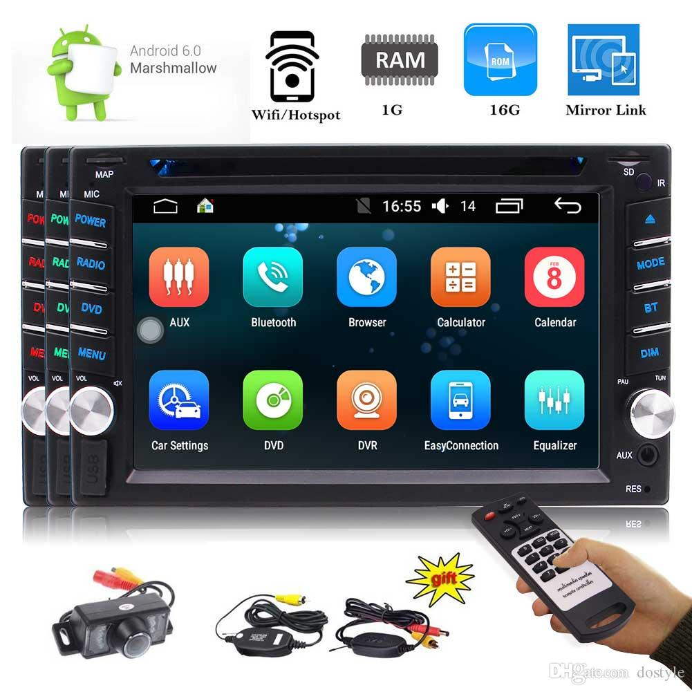 EinCar 2Din Android6.0 Car GPS Navigation Autoradio Bluetooth Car Stereo Headunit 6.2'' Car DVD Player 1080P Video FM/AM/RDS Radio