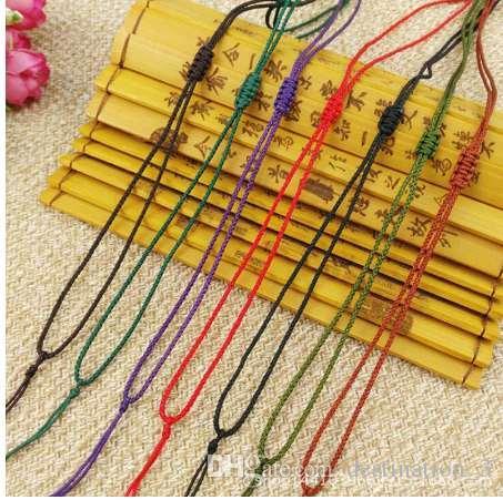 Высокое качество 5 шт./лот регулируемая 2 мм красочные новый веревка ожерелье талреп мода подарки шнур ювелирные изделия шнур кулон шнуры