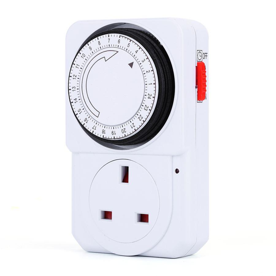 Freeshipping Mechanical Kitchen Cooking Home Timer Smart Socket Switch Plug Counter 24 hours Alarm Timer