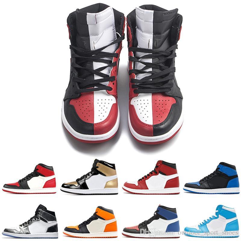 2018 OG 1 top 3 zapatos de baloncesto para hombre Homage To Home New Love Bred Banned Bred Toe Chicago Fragment UNC hombre zapatillas deportivas de deporte zapatillas de deporte de diseño