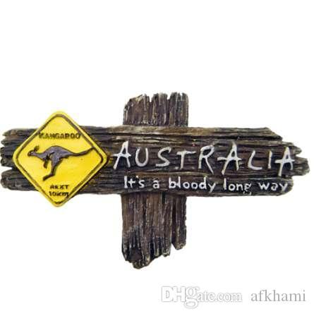1 unid 3D Kangaroo Australiano Imán Imanes de Nevera Imán de Pared Decoración Del Hogar Artesanías de Recuerdo Turístico Artesanía