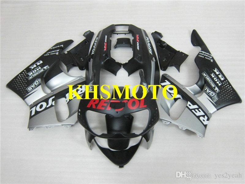 혼다 용 오토바이 페어링 키트 CBR900RR 96 97 CBR 900 CBR 900RR 893 1996 1997 ABS 실버 블랙 페어링 세트 +7 개 선물