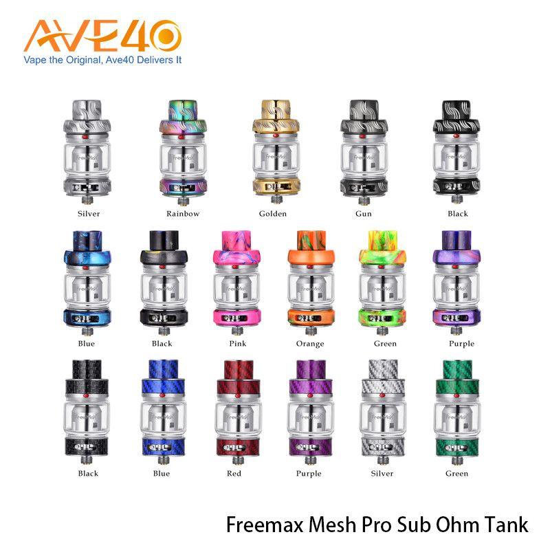 Freemax Mesh Pro Subohm Tank Atomizer 5ml Double & Triple Mesh Coil Sub Ohm Tank with Extra 6ml Glass Tube 100% Original