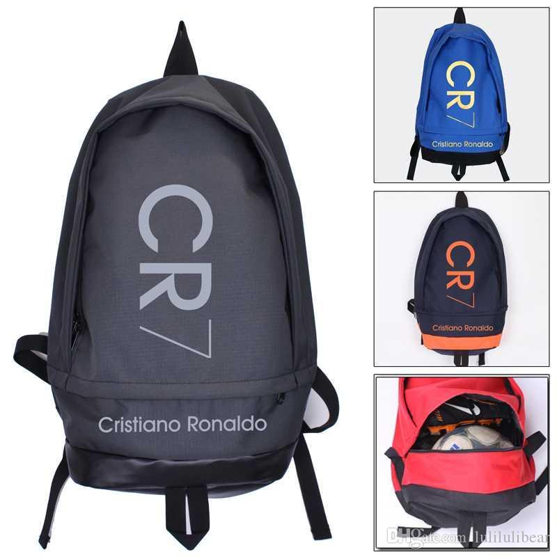 موضة جديدة كريستيانو رونالدو قماش ظهره الرجال النساء الكمبيوتر قدرة كبيرة حقيبة الظهر CR7 سفر صبي فتاة حقيبة مدرسية
