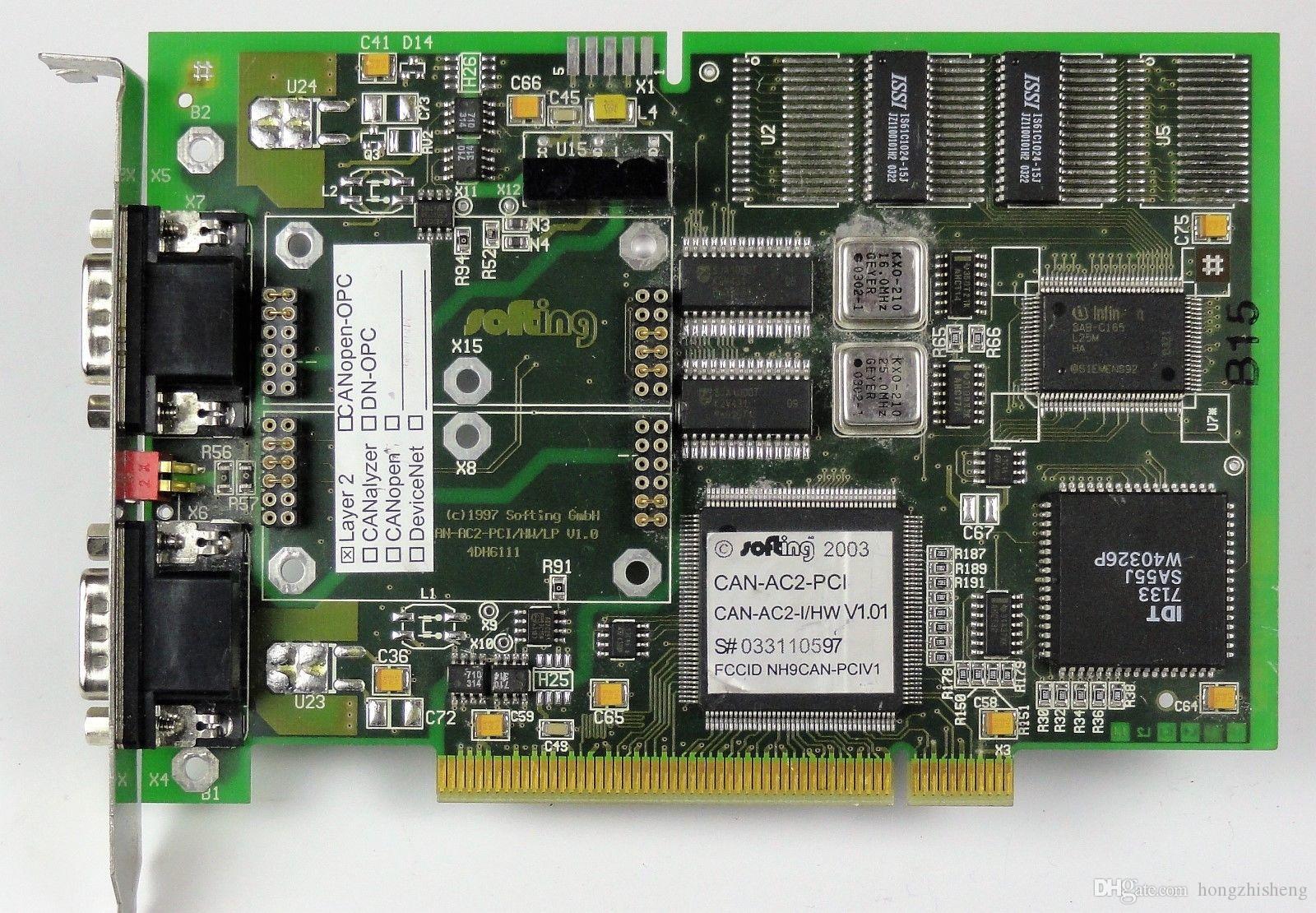 Placa de equipamento industrial SOTING GMBH CAN-AC2-PCI / HW / LP V.10 4DH6111 CAN-AC2-I / HW V1.01
