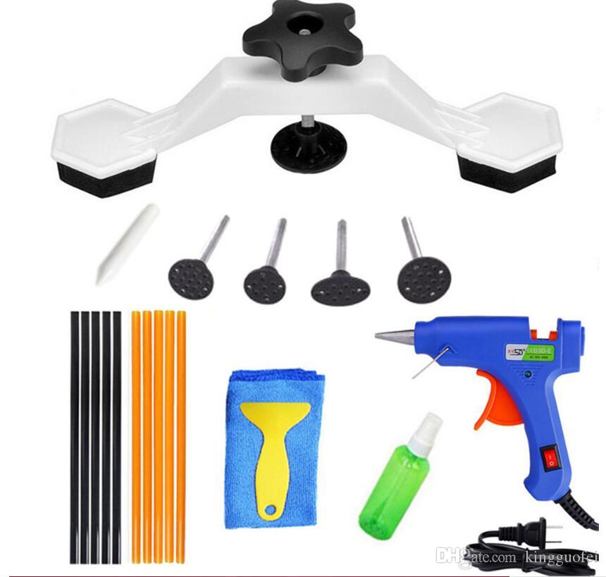PDR Tools Pops a Dent Bridge Puller Kit с горячим расплавом клей пистолет клей палочки для тела автомобиля ремонт вмятины