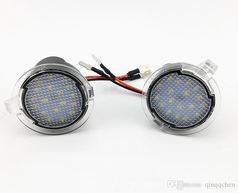 Для Ford LED боковое зеркало лужа свет лампы Белый 18LED для исследователя Mondeo край Taurusp F150 забрать наследие 2 шт. / лот