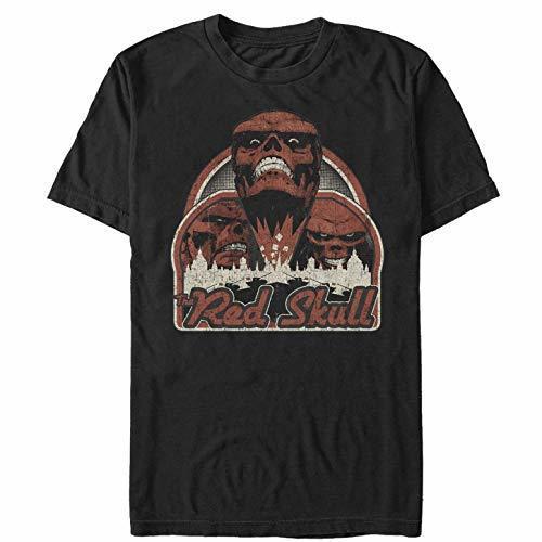 T-shirts d'été Skull City T-shirt rouge pour hommes T-shirt manches courtes