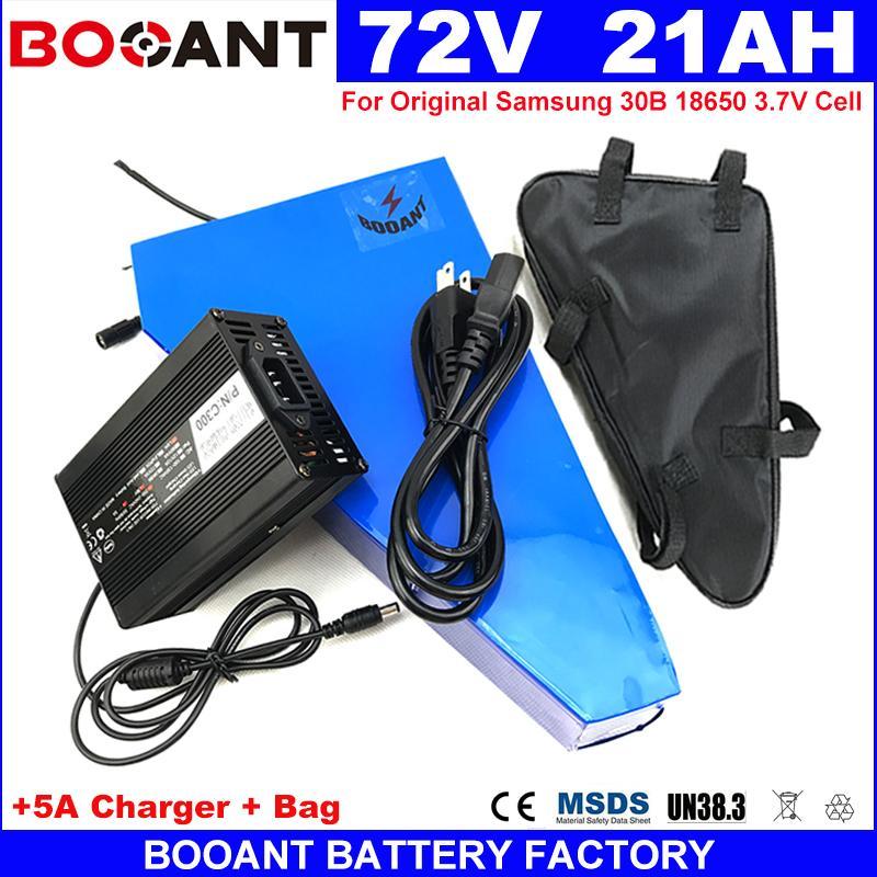 Livraison gratuite triangle 72V 20AH E-bike Batterie au lithium pour Bafang BBSHD 1500W 3000W Moteur vélo électrique batterie 72V + 5A Chargeur