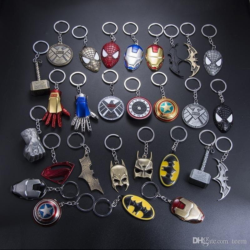 DHL Marvel Universe The Avengers Series Keychain Infinite War Fashion Superhero Key Chains For Women Men Jewelry Holder Trinkets kids toys