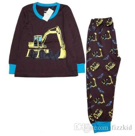 100% Baumwolle Jungen Weihnachtspyjamas Kinder Nachtwäsche Baby Rentier Nacht trägt Kinder Pyjamas