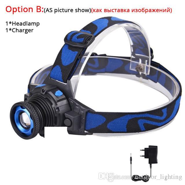 3800Lums светодиодные фары яркие фары головного света фонарик масштабируемые светодиодные фары встроенный аккумулятор для охоты кемпинг