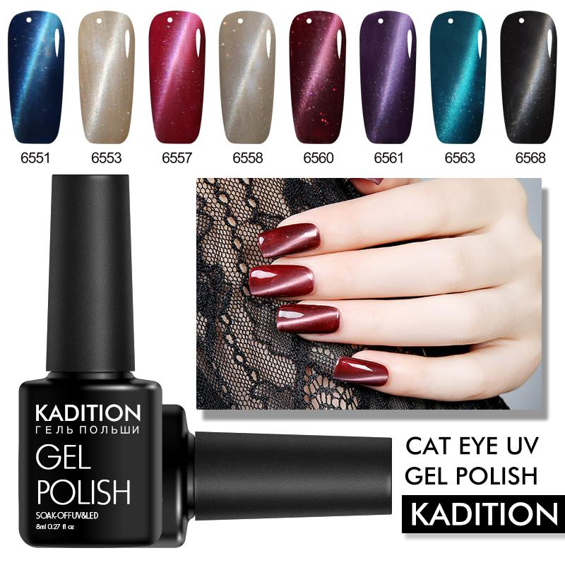 Kadition Newest Magnetic 3d Cat Eye Uv Lamp 8ml Gel Nail Polish