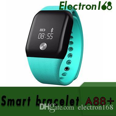A88 + Smart bracciale sport pedometro banda frequenza cardiaca orologio da polso SPO2H Tracker Blood Blood Monitor Wristband per iOS Android