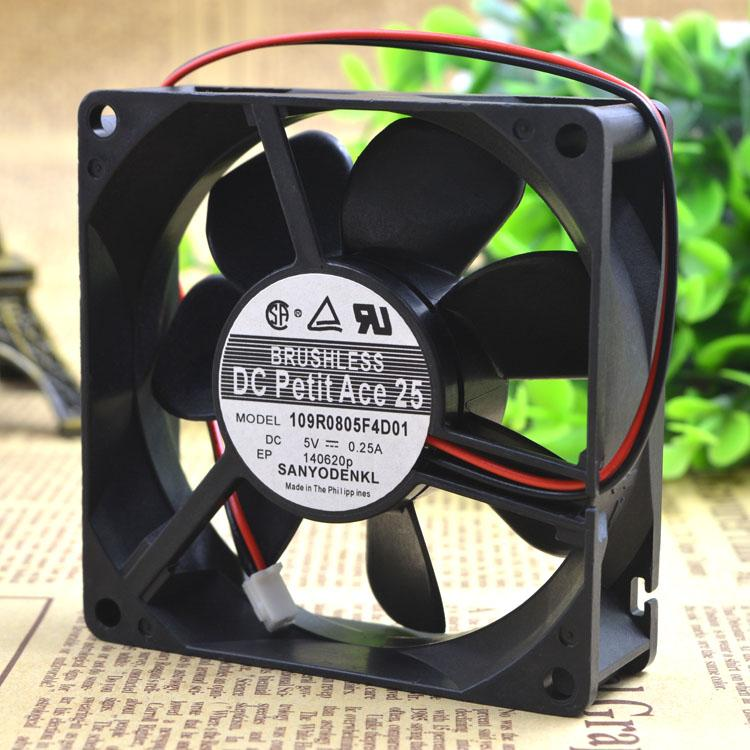 Pour Shanyang 8025 5V 0.25A 109R0805F4D01 Ventilateur de Refroidissement à Double Boule 8CM
