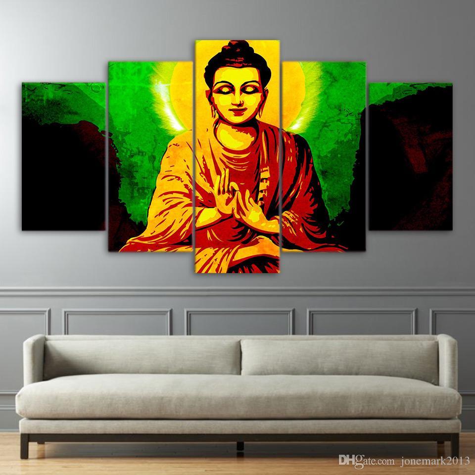 Art Gautam Buddha Wall Painting