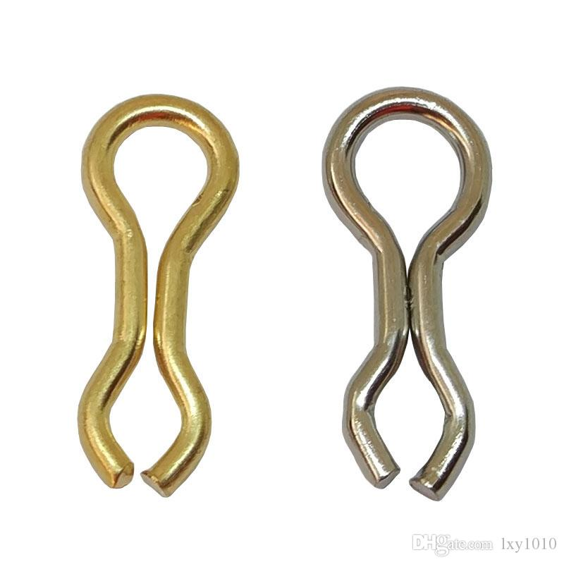 INFOF Brand 500pcs/lot F6059 Fishing Connector Snaps Brass Wire Sinker Eyelets Carp Fishing Swivels Clip Tackle Accessories Fishing Plumbs