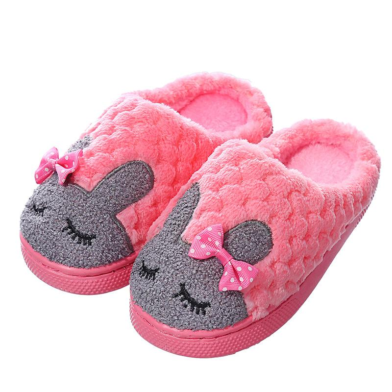 Winter Home Indoor Slippers Ladies Cute Cartoon Men Women Couple Bedroom Shoes Warm Plush Furry House Slides Flip Flops Footwear Kids Boots Men Boots From Happyjoin 19 35 Dhgate Com