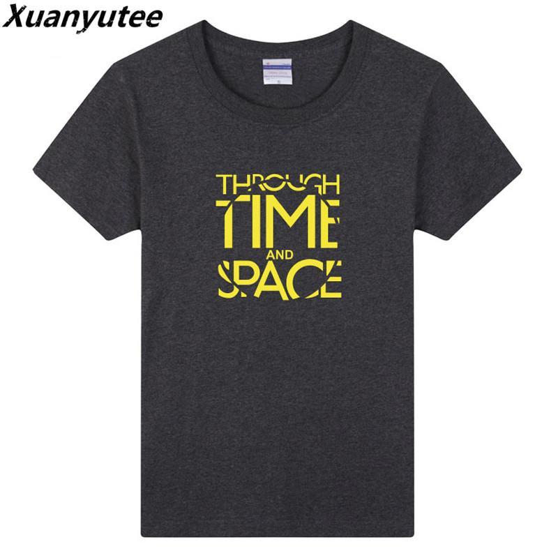 Zaman Uzay Tee Gömlek Homme Pamuk O yaka Kısa Kollu Günlük Stil tişört Erkekler 3XL sayesinde Filmi Hayranları Yaz Yeni Moda Baskı