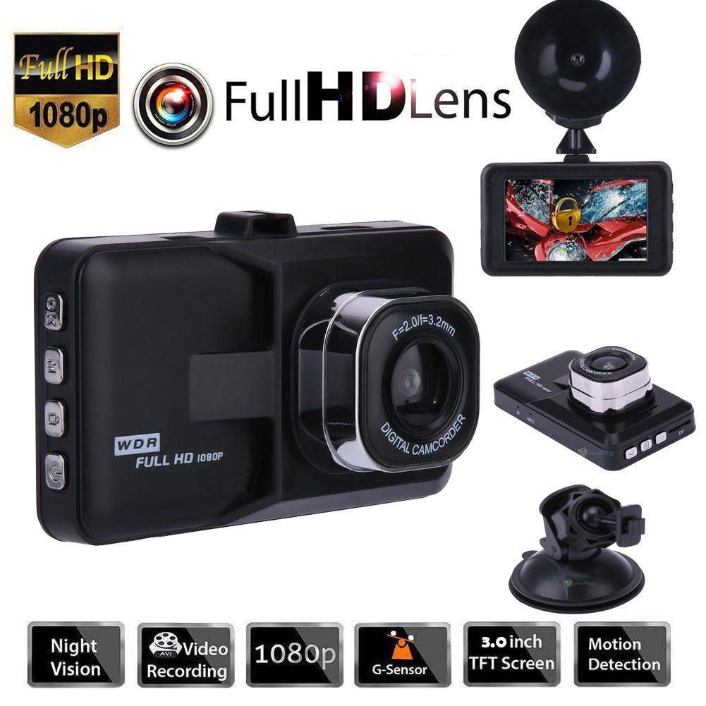 """3.0 """"véhicule 1080p voiture dvr tableau de bord dvr caméra vidéo enregistreur dash cam g-capteur gps livraison gratuite"""