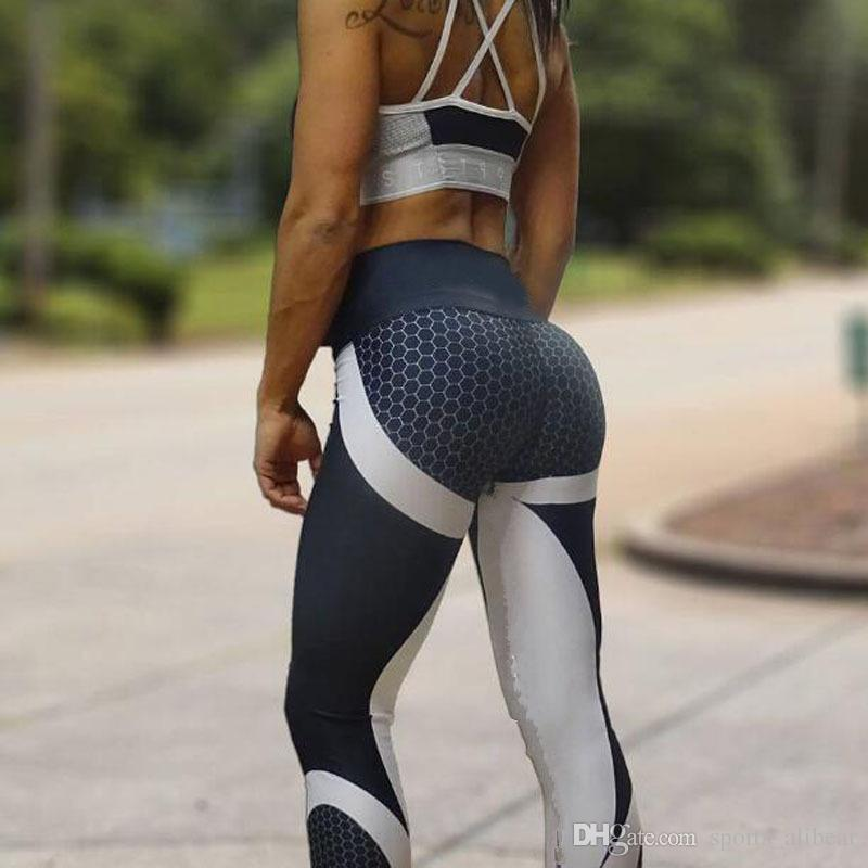 Mujeres Leggings Patchwork Culturismo Slim Legging Pantalones Ropa deportiva para dama Push Up Pants Mujeres Active Casual Pant