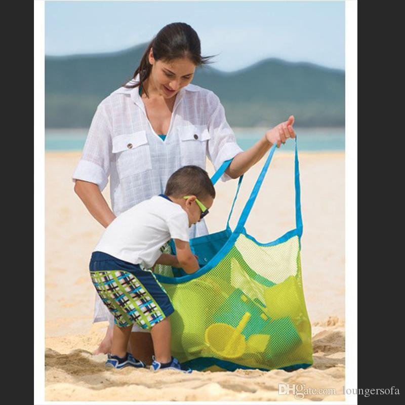 Folding Baby Child Toy Storage Bags Beach Mesh Bag Bath Hanging Net Baskets For Outdoor Portable Big Size Volume Organizer 7 8tt ZZ