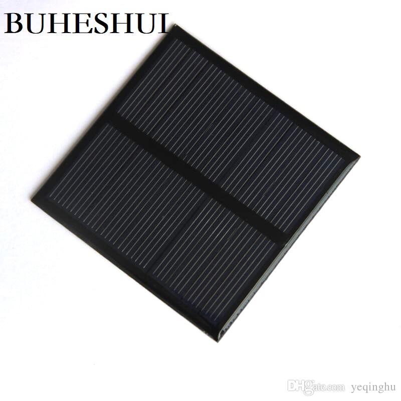 BUHESHUI 0.7W 5V Mini Solar Panel Polycrystalline Solar Cell Small Power 3.7V Battery Charger Led Light Study 10pcs 70*70MM