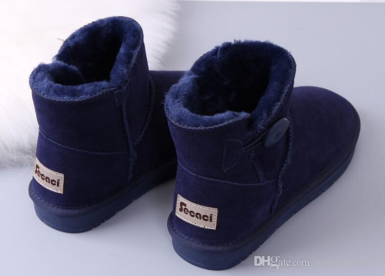 Botón Australia Clásico nieve Botas A +++ Calidad barato mujeres hombre botas de invierno descuento de moda Botines zapatos tamaño 5-12