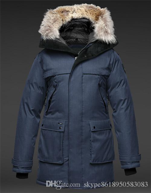 NEW! Hot Sale 2018 Top Copy Men's YATESY Long Crosshatch Winter Jacket Arctic Coat Down Parka Hoodie With Fur Sale Sweden