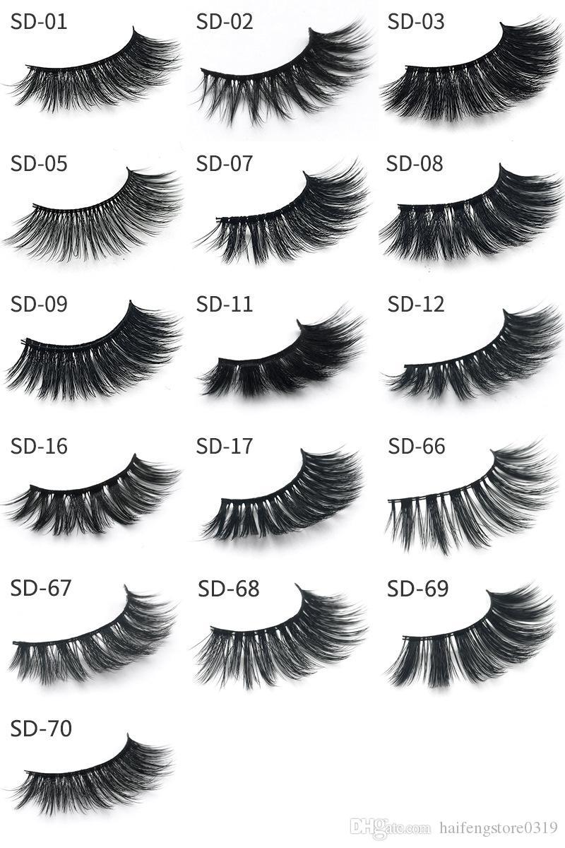 3D Mink False eyelashes 16 Styles Handmade Beauty Thick Long Soft Mink Lashes Fake Eye Lashes Eyelash