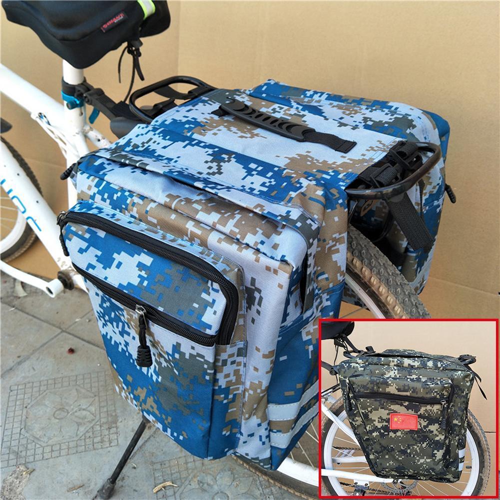 Камуфляж MTB горный велосипед стойку мешок многофункциональный дорожный велосипед Паньер заднего сиденья багажник сумка Велоспорт корзина S3
