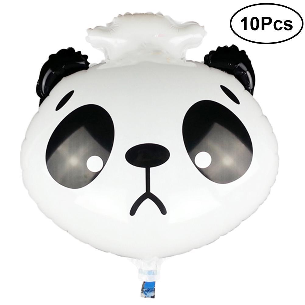 10pcs Balloon Animal Head Lovely Aluminum Foil Sad Panda Mould Durable Toys Balloon for Party Supplies Birthday Kids