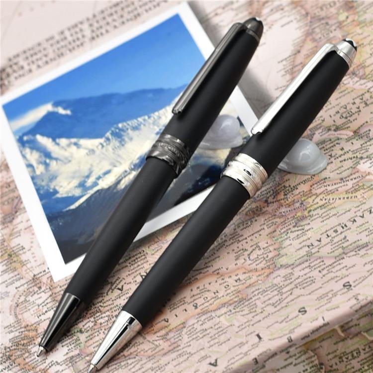 Hohe Qualität 163 Matte Black Classiquer Roller Kugelschreiber Kugelschreiber und Füllfederhalter Schulbüro Option für Schreibwaren schreiben Geschenk