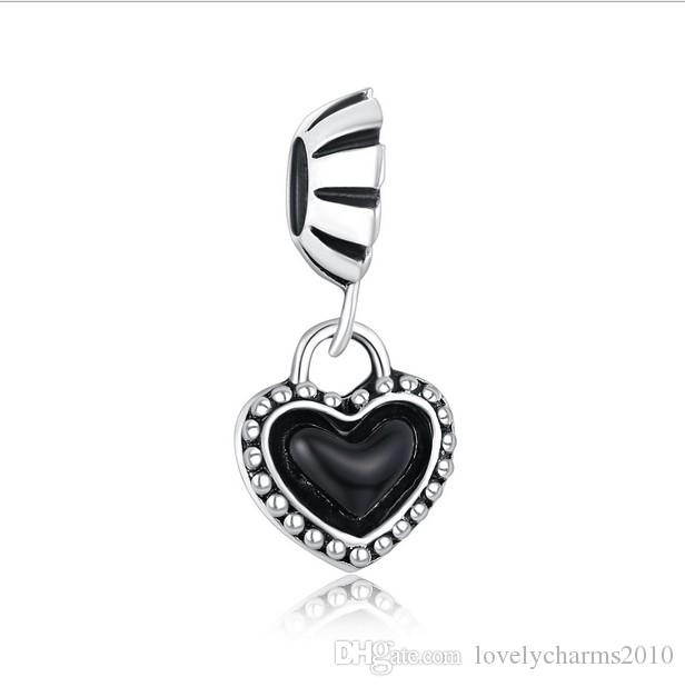 pandora charm cuore nero