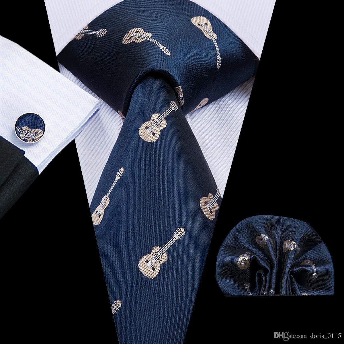 Mens Electric Guitar Classic Casual Tie Necktie