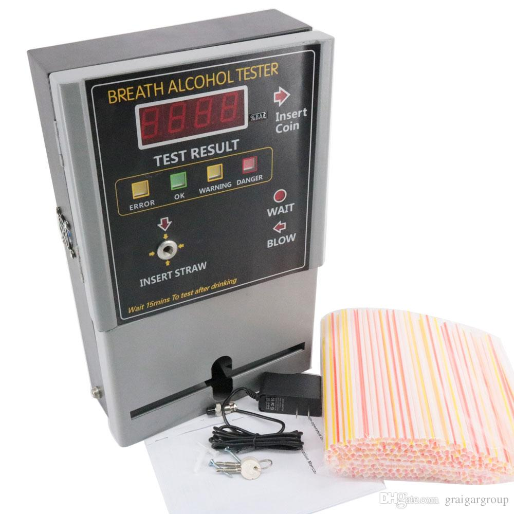AT319 Breath Alcohol Tester Coin-operated Test Range: 0.000-2.000mg/l Accuracy: +/-0.005 @ 0.05BAC%