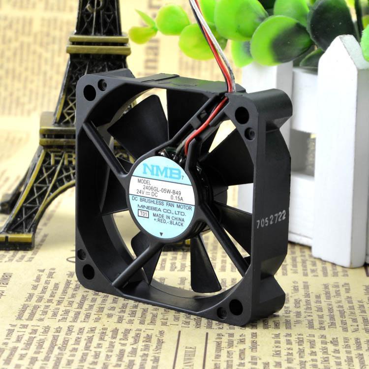 Для NMB 6015 6 СМ 24 В 0.15A 2406GL-05W-B49 Двойной шаровой инвертор Вентилятор охлаждения
