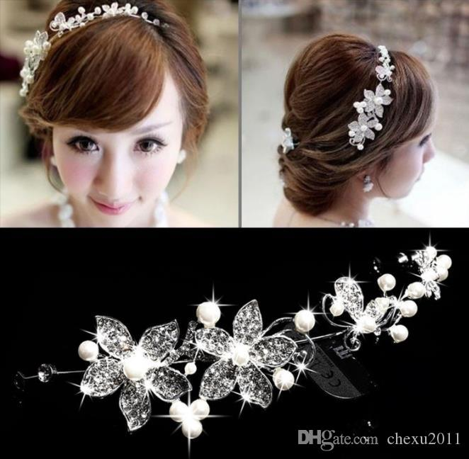 Ornements de mariée, mariées, alliage, perles, chapellerie, accessoires coréens, accessoires de robe de mariée