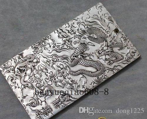Old Chinese Tibetan silver bullion Canglong teachers peace amulet