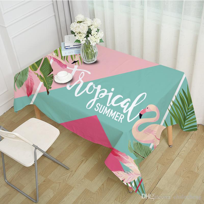 Nordic Table Cloth Flamingos Design Rectangular Dinning Table Cover Ins Hot Tablecloth In The Kitchen Garden Coffee Tablecloths Dining Table Cloth