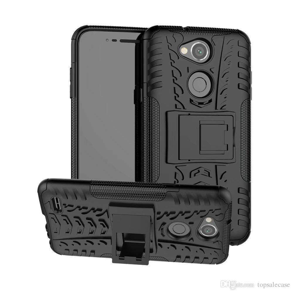 For LG X Power 3 Case Stand Colorful Rugged Combo Hybrid Armor Bracket Impact Holster Protective Cover For LG X Power 3