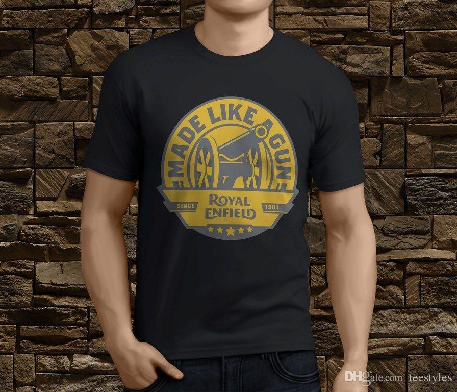 Royal Enfield Made Like A Gun Both Side Big Logo Polo T Shirt XL Size Black