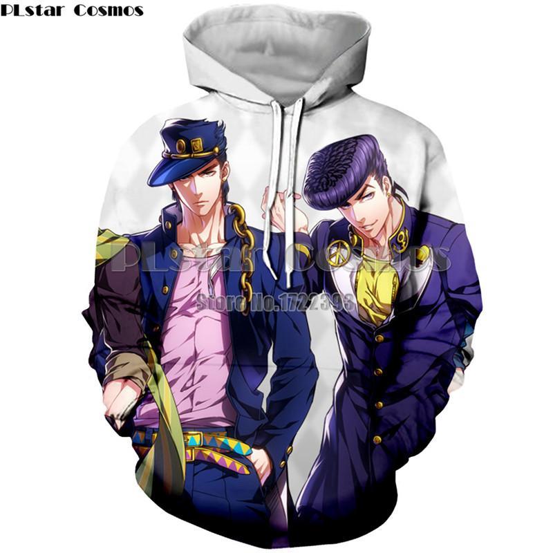 PLstar Cosmos JOJO'S BIZARRE ADVENTURE Kujo Jotaro 3d Imprimer Hoodie Hommes / Femmes Casual Sweat-shirts à capuche Polyester