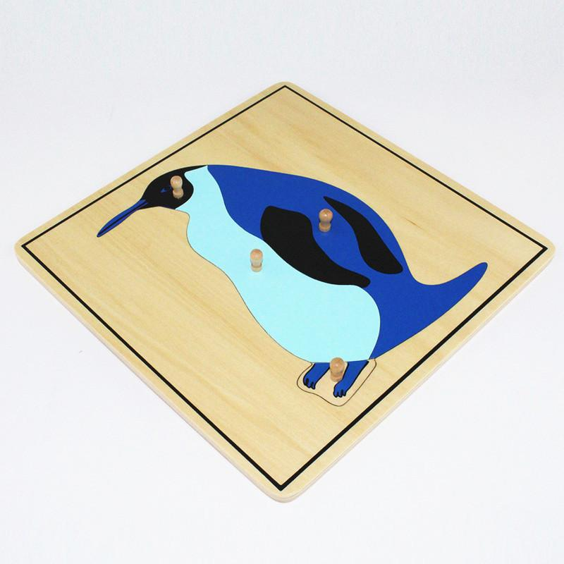 Baby Toy Kids Penguin Puzzle Animal for Children Wood for Early Childhood Education Preschool Training Learning
