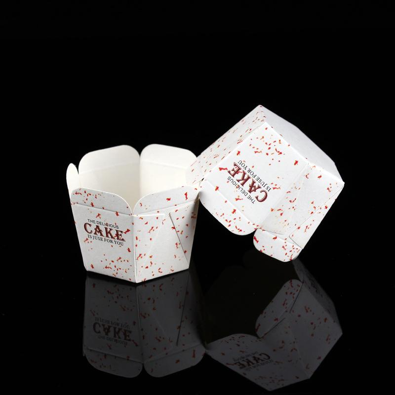 100pcs/lot White Color Hexagon Paper Cupcake Liners Baking Tools Muffin Cups Square Paper Cupcake Liners for Wedding Kitchen