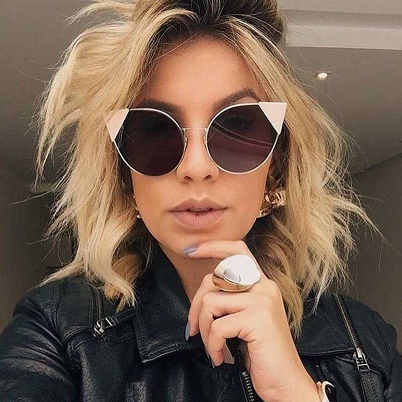 Designer Occhiali da sole per le donne Marca Vintage Gradient occhiali da sole Retrò Cat eye Occhiali da sole Female Fashion Eyewear 7 colori