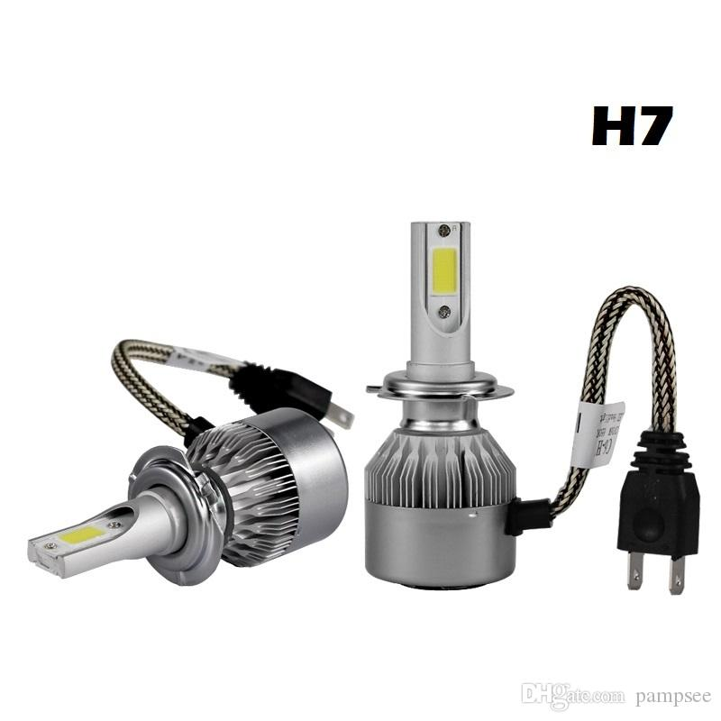 C6 H7 led car headlights H4 H11/H8/H9 H1 H3 9005 hb4 9007 light bulb auto fog lamp 72W 3000K Automobiles headlight