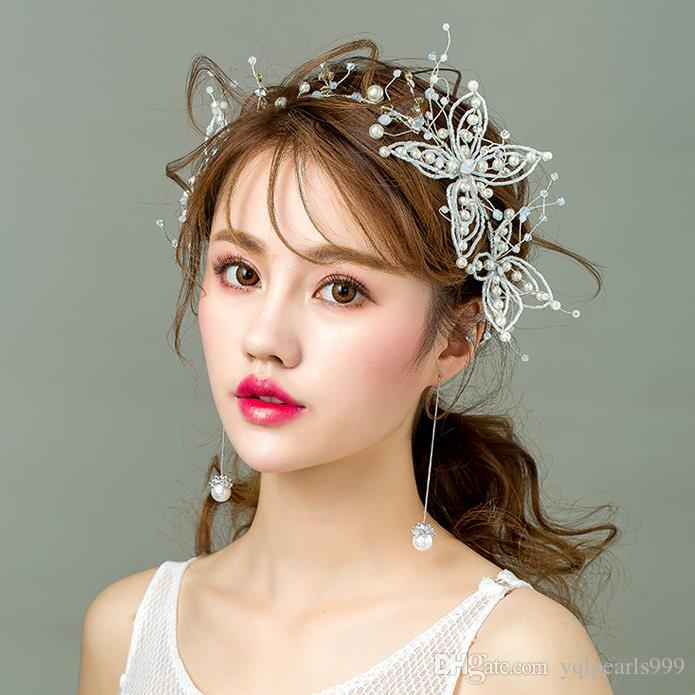 Bridal Headwear, Sen Schönheit, weißer Schmetterling, super Fairy Hair, Hochzeitskleid, Hochzeitskleid.